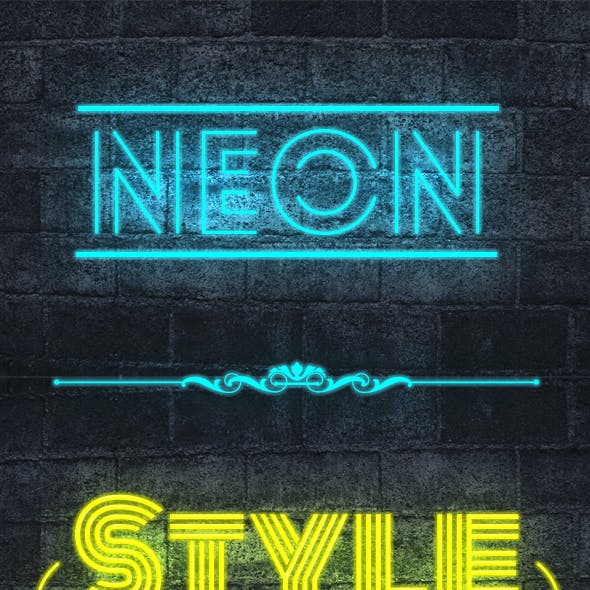Neon Text Styles V2