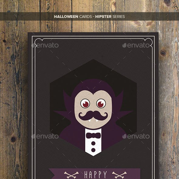 Halloween Cards - Hipster Series