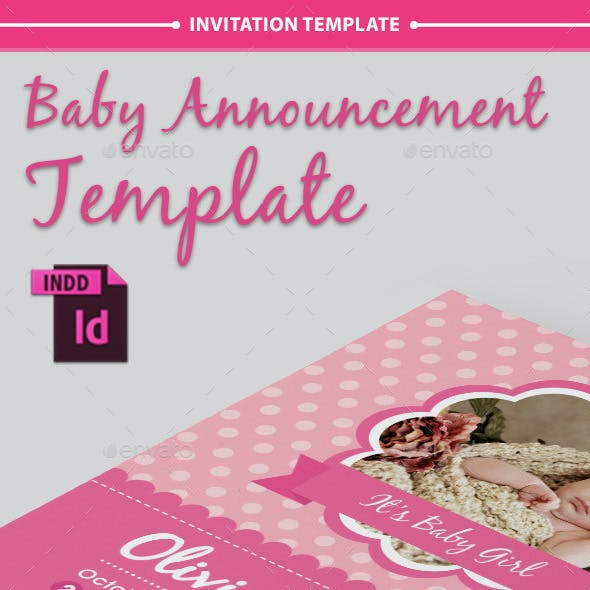 Baby Announcement Template - Vol.6