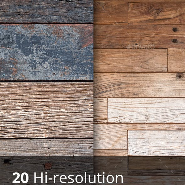 20 hi-res wooden surface textures