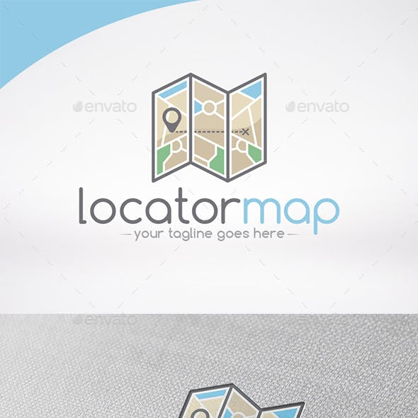 Map Locator Logo Template