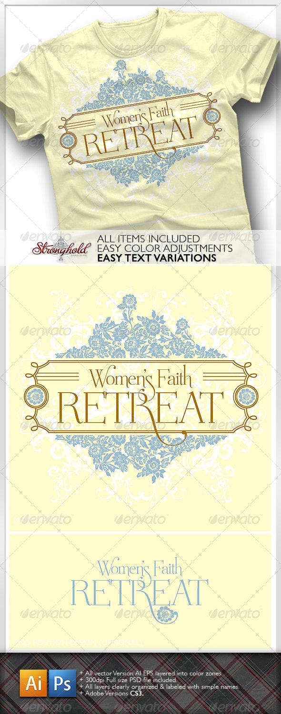 Women's Retreat T-Shirt - Church T-Shirts