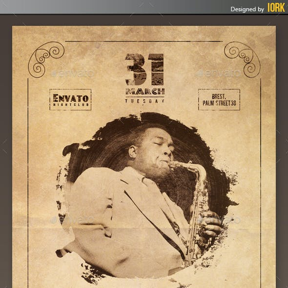 Jazz Concert Retro Flyer