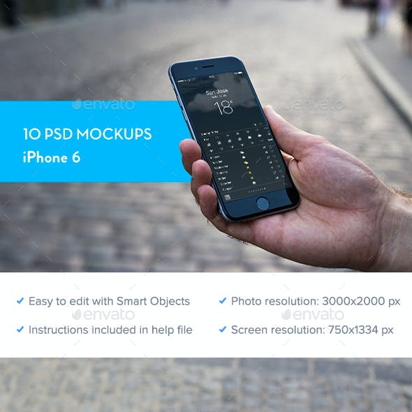 iPhone 6 Mockup - 10 PSD