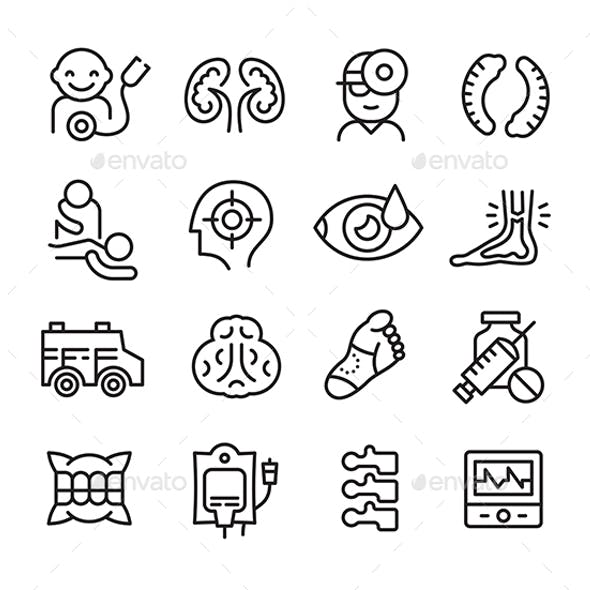 Icons Related to Different Branches of Medicine