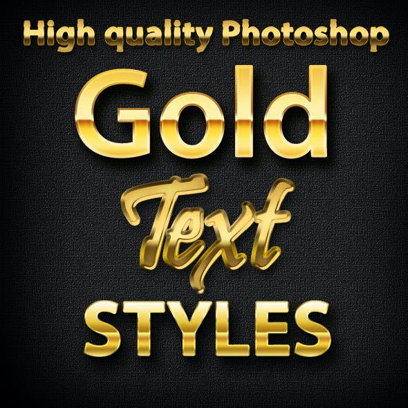 Gold Text Photoshop Styles