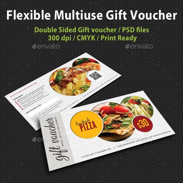 Flexible Multiuse Gift Voucher V05