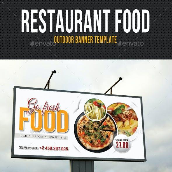 Restaurant Food Outdoor Banner Template