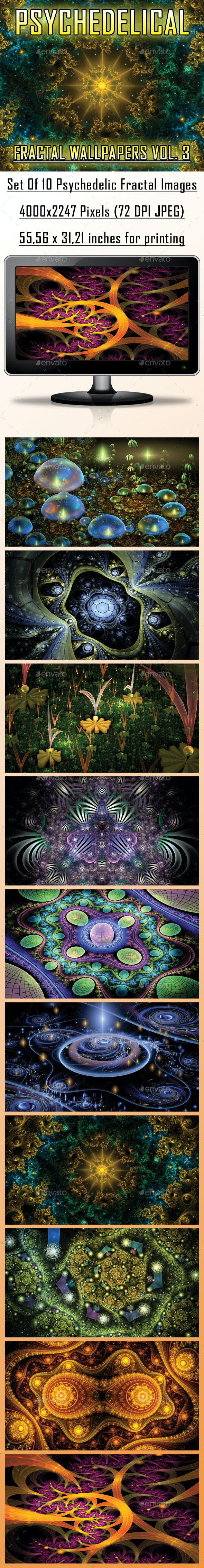 HD Psychedelic Fractal Wallpapers Vol. 3 - Abstract Backgrounds