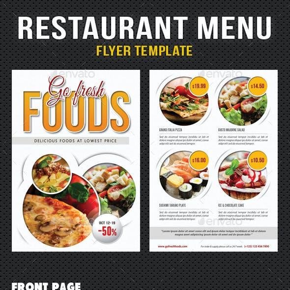 Restaurant Menu flyer V02