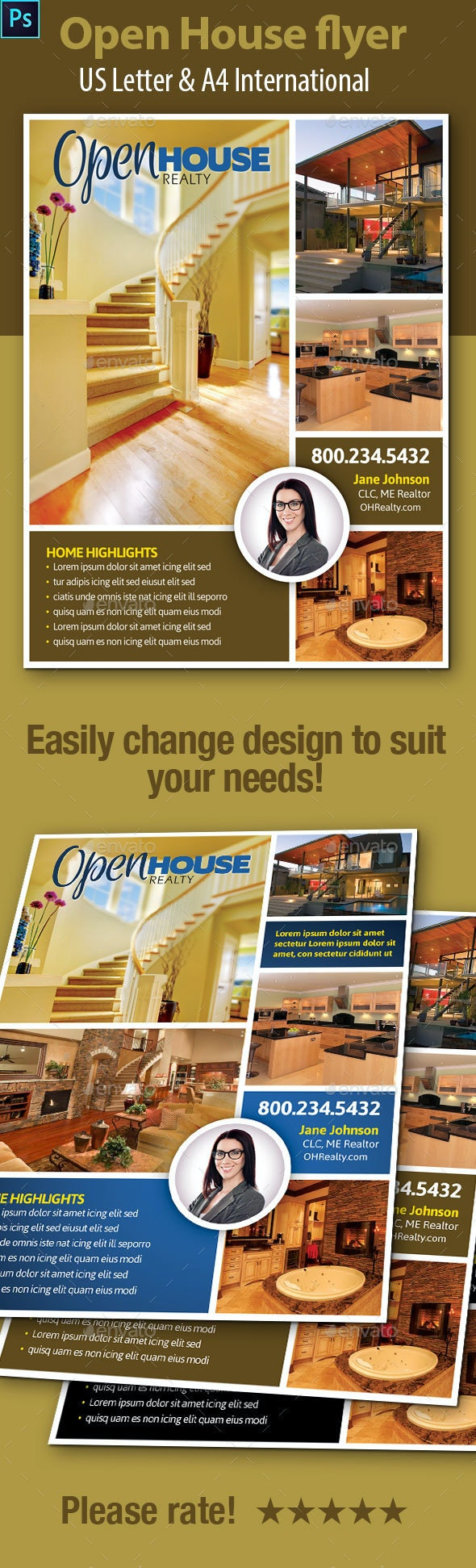 Open House Flyers - Flyers Print Templates