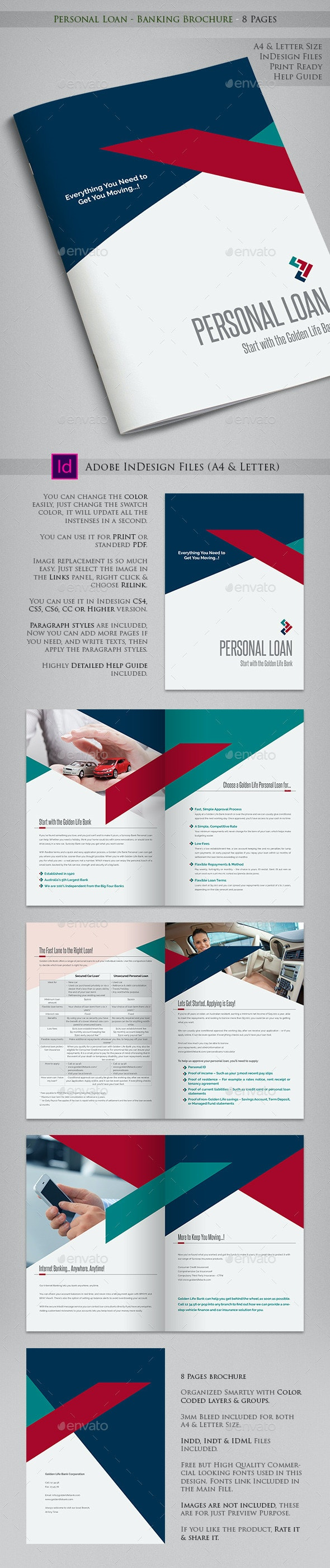 Personal Loan - Banking Brochure - 8 Pages - Informational Brochures