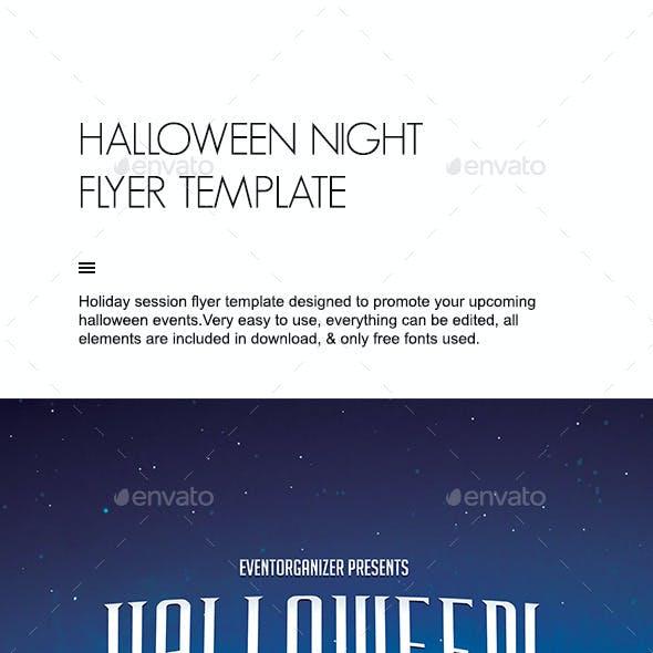 Halloween Night Flyer Template