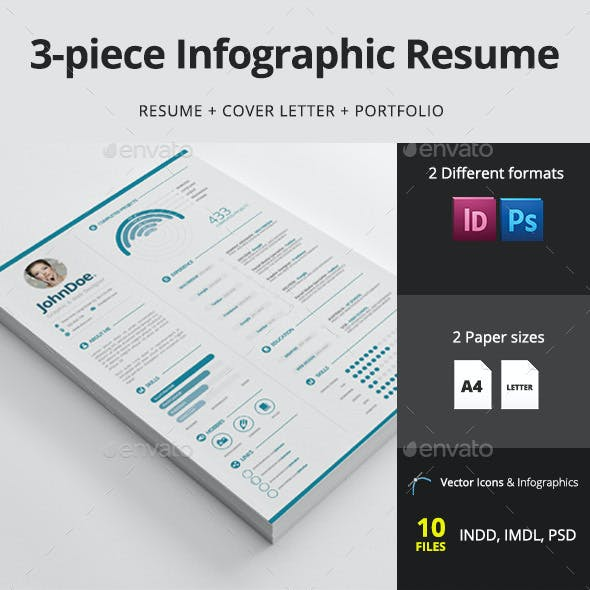 3-piece Infographic Resume / CV
