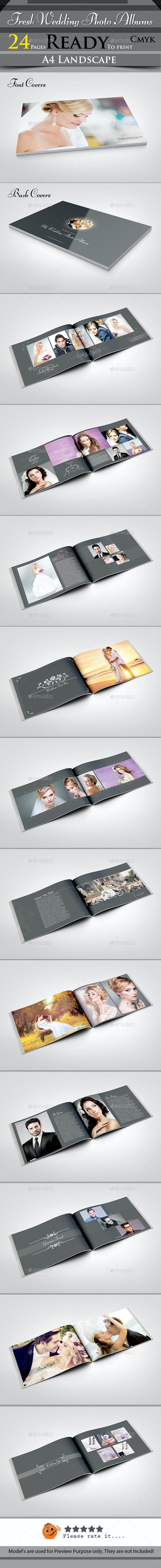 Fresh Wedding Photo Albums - Photo Albums Print Templates