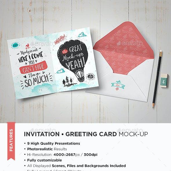 Invitation / Greeting Card Mock-Up