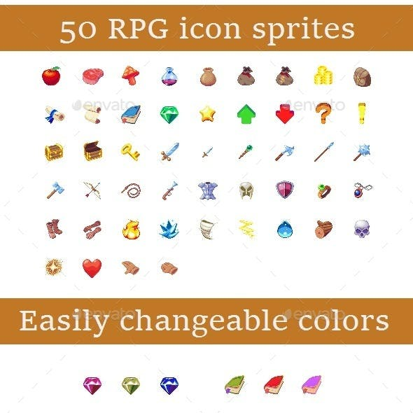 Pixel RPG Icon Set