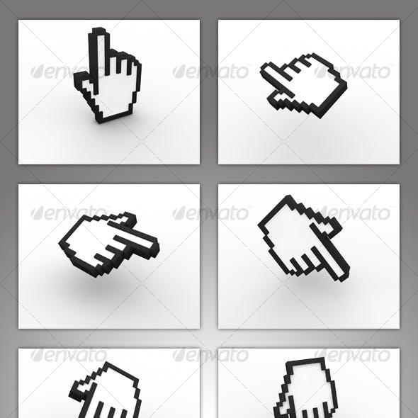 3D Hand Cursor Set