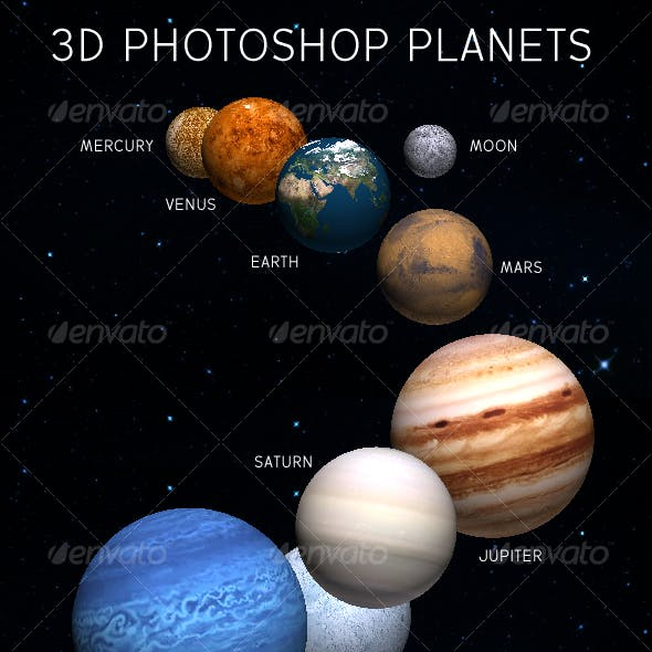 3D Planets for Adobe Photoshop