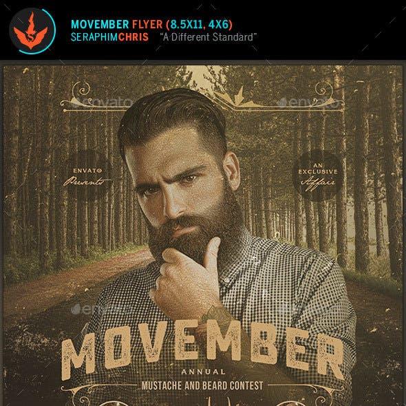 Movember Benefit Awareness Flyer Template