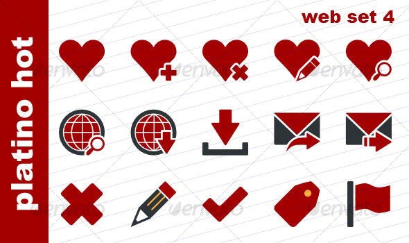 Platino Hot - Web Set 4 - Web Icons