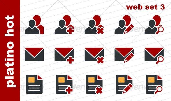 Platino Hot - Web Set 3 - Web Icons