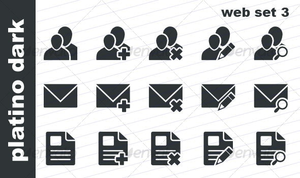 Platino Dark - Web Set 3 - Web Icons