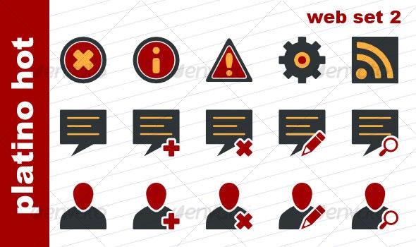 Platino Hot - Web Set 2 - Web Icons
