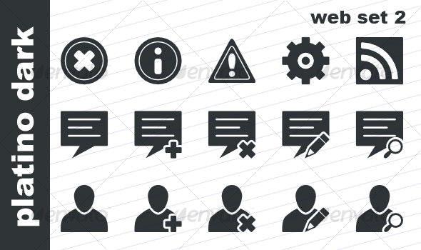 Platino Dark - Web Set 2 - Web Icons