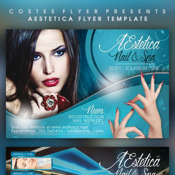 AEstetica Spa and Beauty Flyer Templates