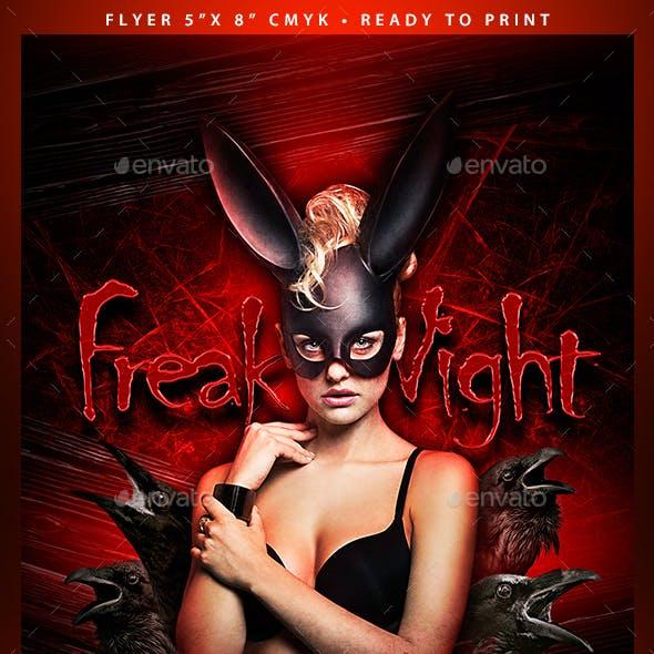 Freak Night (Flyer Template 4x6)