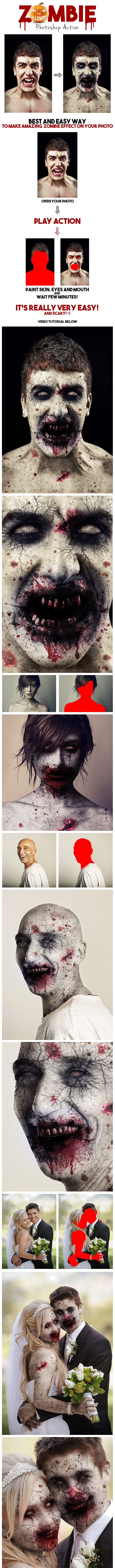 Zombie Photoshop Action - Photo Effects Actions