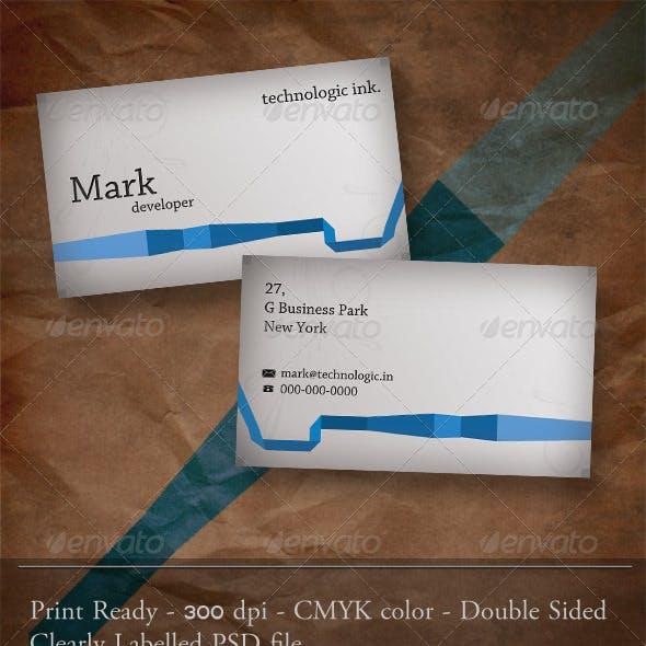 Blue Ribbon Business Card.
