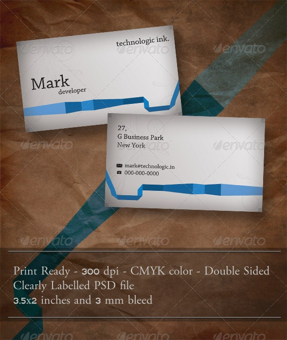 Blue Ribbon Business Card. - Corporate Business Cards
