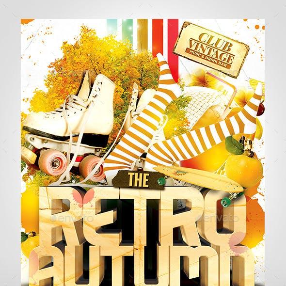 Retro Autumn Flyer