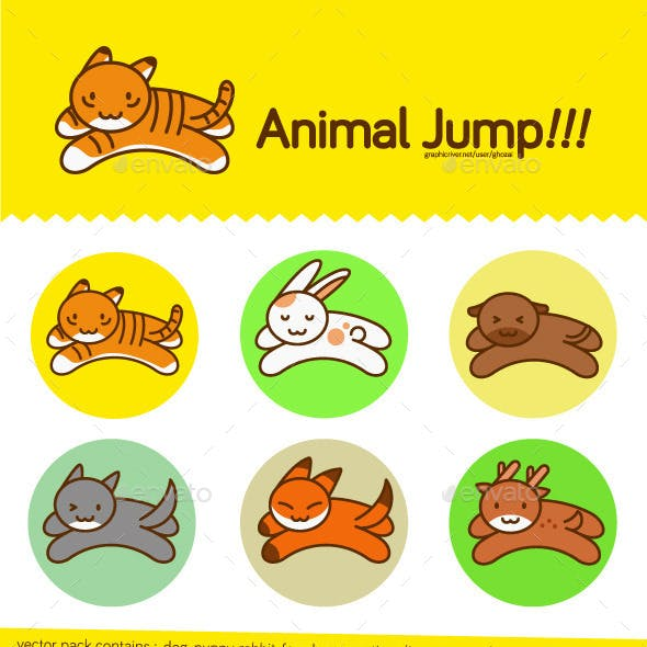 Jumping Animal - Vector Pack