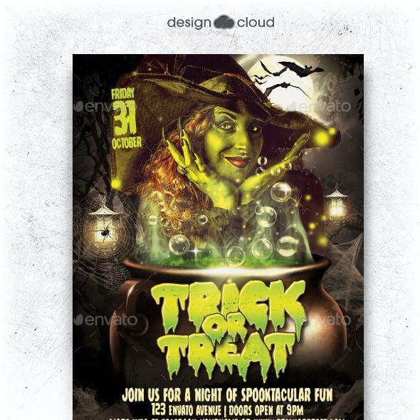 Trick or Treat Halloween Flyer Template