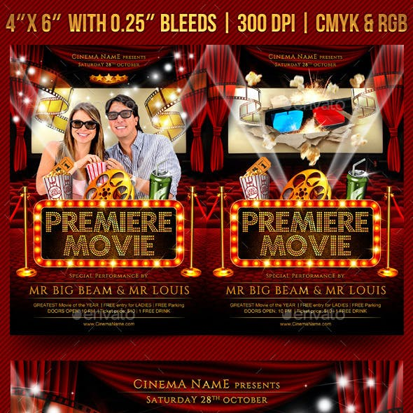 Premiere Movie Flyer Template