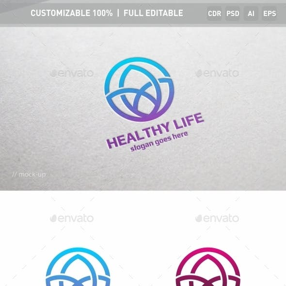 Healthy Life Logo Template