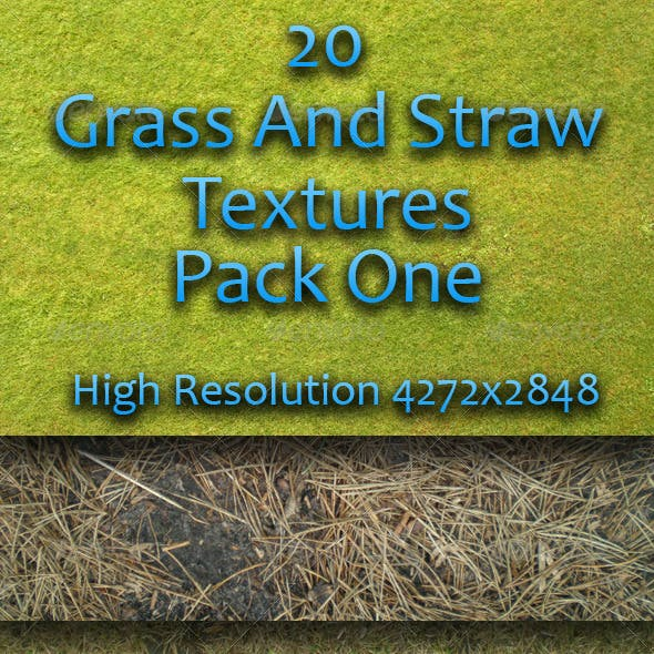 20 Grass And Straw Textures - Pack One