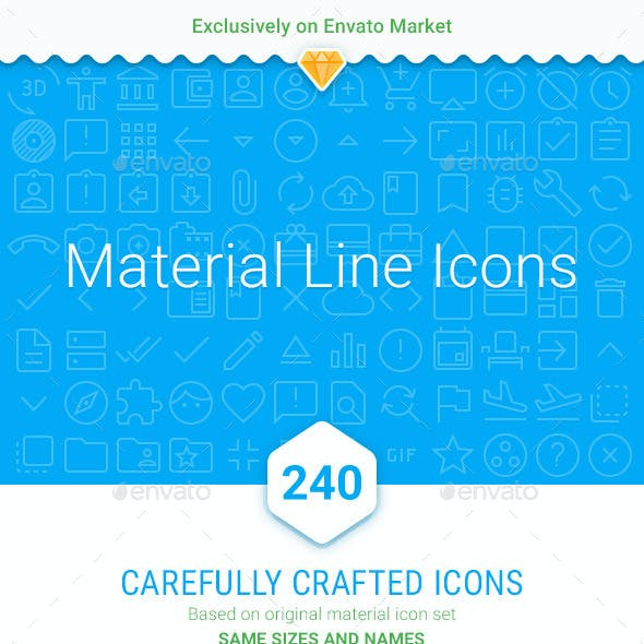 Material line icons (part 1)