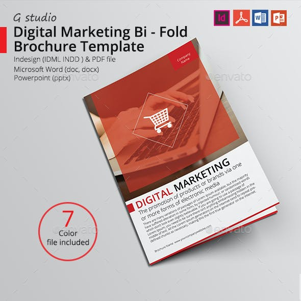 Digital Marketing Bi - Fold Brochure Template