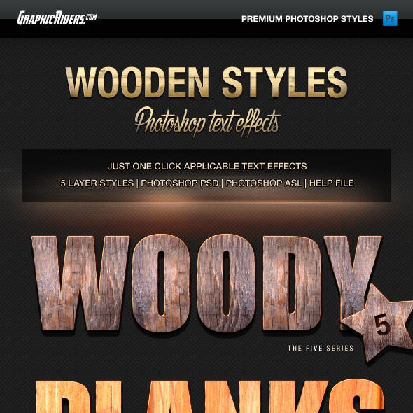 Various Text Effects Vol.3 - Wooden Styles