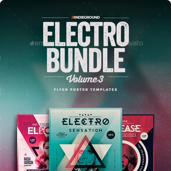 Electro Flyer/Poster Bundle Vol. 7-9