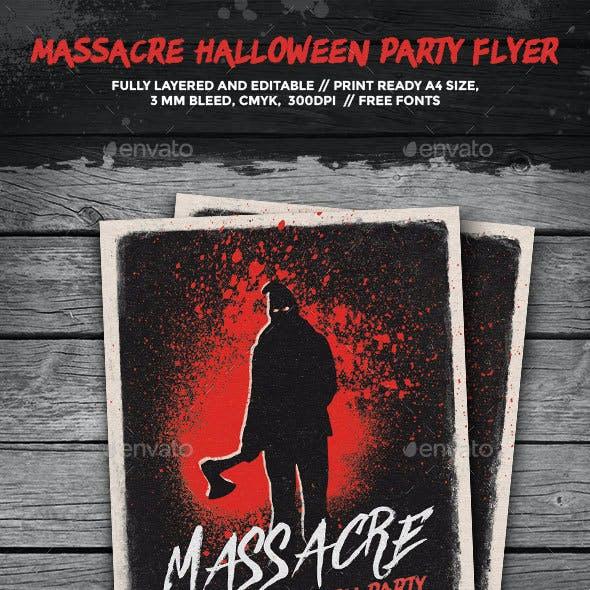 Massacre Halloween Party Flyer