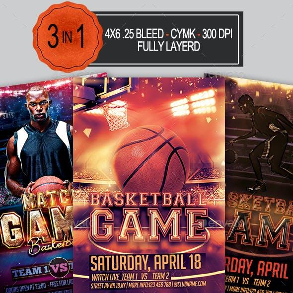 3in1 Basketball Flyer Bundle