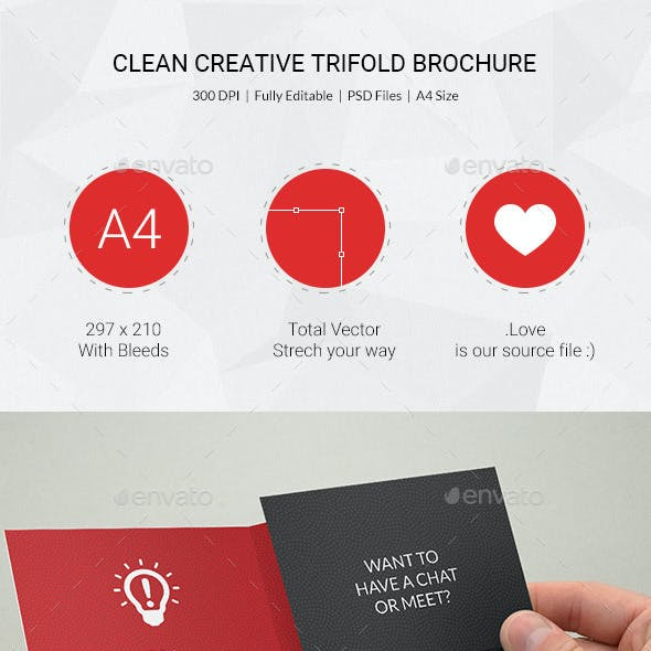 Clean Multipurpose Trifold Brochure - 18