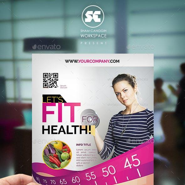 Health & Fitness Flyer / Magazine Ads