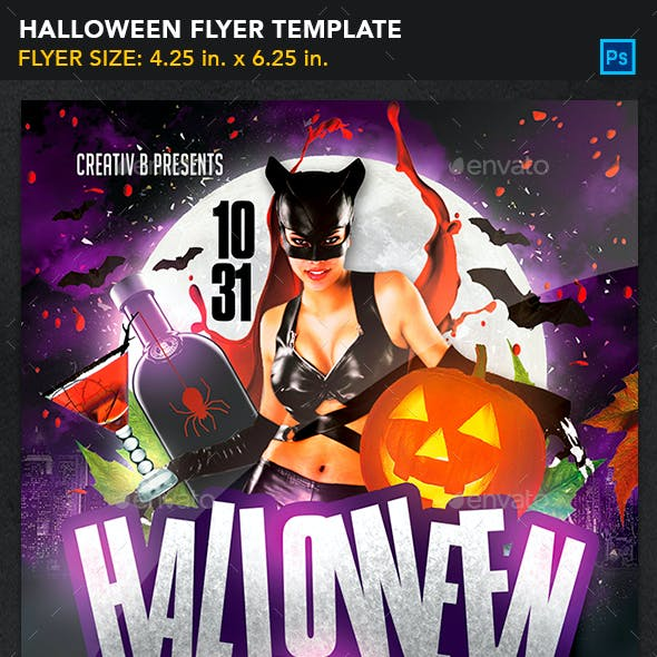 Halloween Party Flyer Template 3