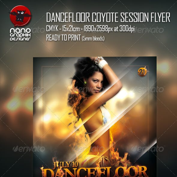 Dancefloor Coyote Session Flyer